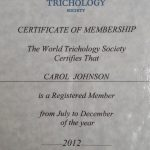 Carol Johnson, a Certified Trichologist