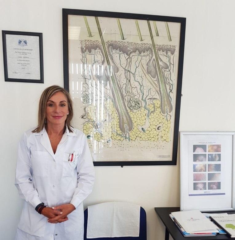 Carol Johnson, a Certified Trichologist